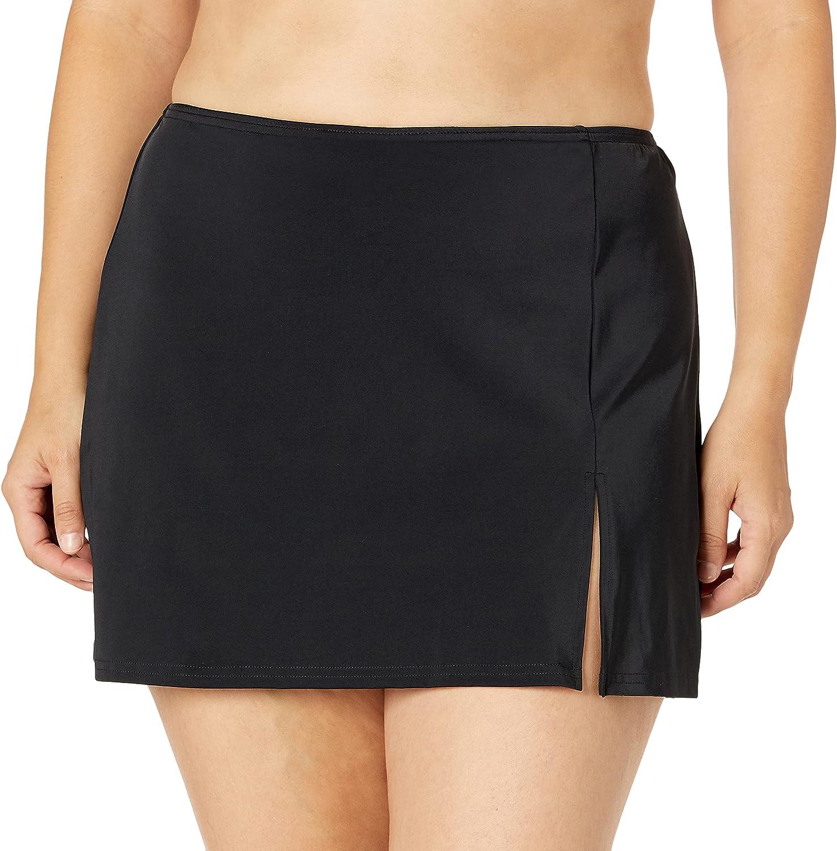 Fit 4 U Women's Solid Bottom Swim Skirt with Slit