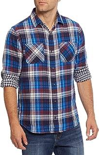 Men's Double Layer Plaid Long Sleeve Shirt