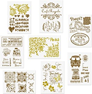 Best vintage flower stencil Reviews