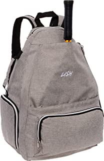 LISH Game Point Tennis Backpack w/ Shoe Compartment - Racket Holder Equipment Bag for Tennis, Racquetball, Squash
