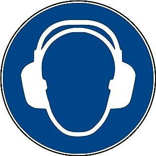 10 Aufkleber Gehörschutz benutzen Aufkleber 10 Stück vorgestanzt selbstklebend Gehörschutz benutzen Gebotszeichen Warnzeichen Ohrenschutz-Aufkleber M003 Arbeitsschutz Ohr Ohren Aufkleber Gehör