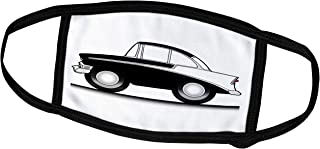 Lplpol Month Mask - Mark Grace Cartoon Cars chev - Bowtie Classic car Cartoon, Black on White tri-Five, on The Street - Du...