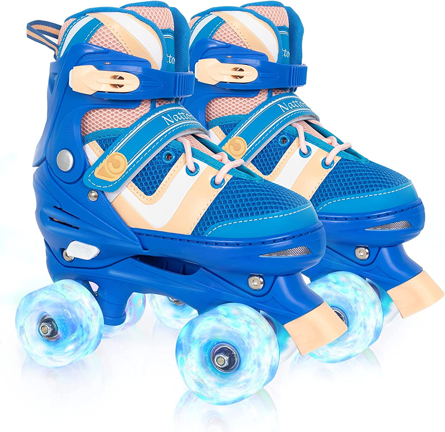 Nattork Adjustable Gifts Roller Skates Ranking TOP19 for Kids O with Up Light Wheel