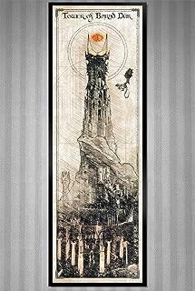 LOTR - Sauron's Tower - Barad Dur - Da Vinci Style Sketch print - 11.75x36