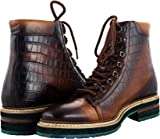 Zerimar Elevator Boots for Men Add +2.7 in | Men's Height Increasing Shoes | Shoes That Increase Your Height