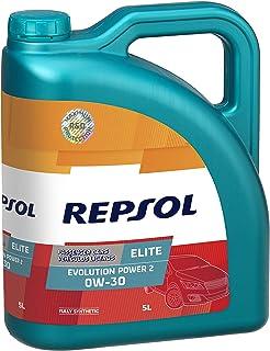 Repsol RP141V55 Elite Evolution Power 2 0W-30 Aceite de Motor para Coche, 5 L
