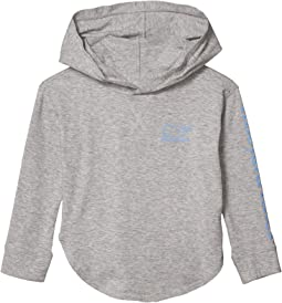 Long Sleeve Vintage Whale Curved Hem Hoodie (Toddler/Little Kids/Big Kids)