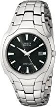 Citizen Men's Eco-Drive 38mm Titanium Bracelet Watch