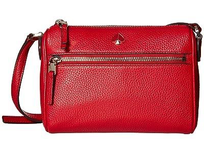 Kate Spade New York Polly Small Crossbody (Hot Chili) Cross Body Handbags