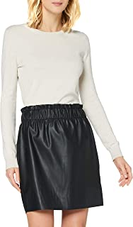 Vero Moda Vmgwenriley HR PU Paperbag Skirt Falda para Mujer