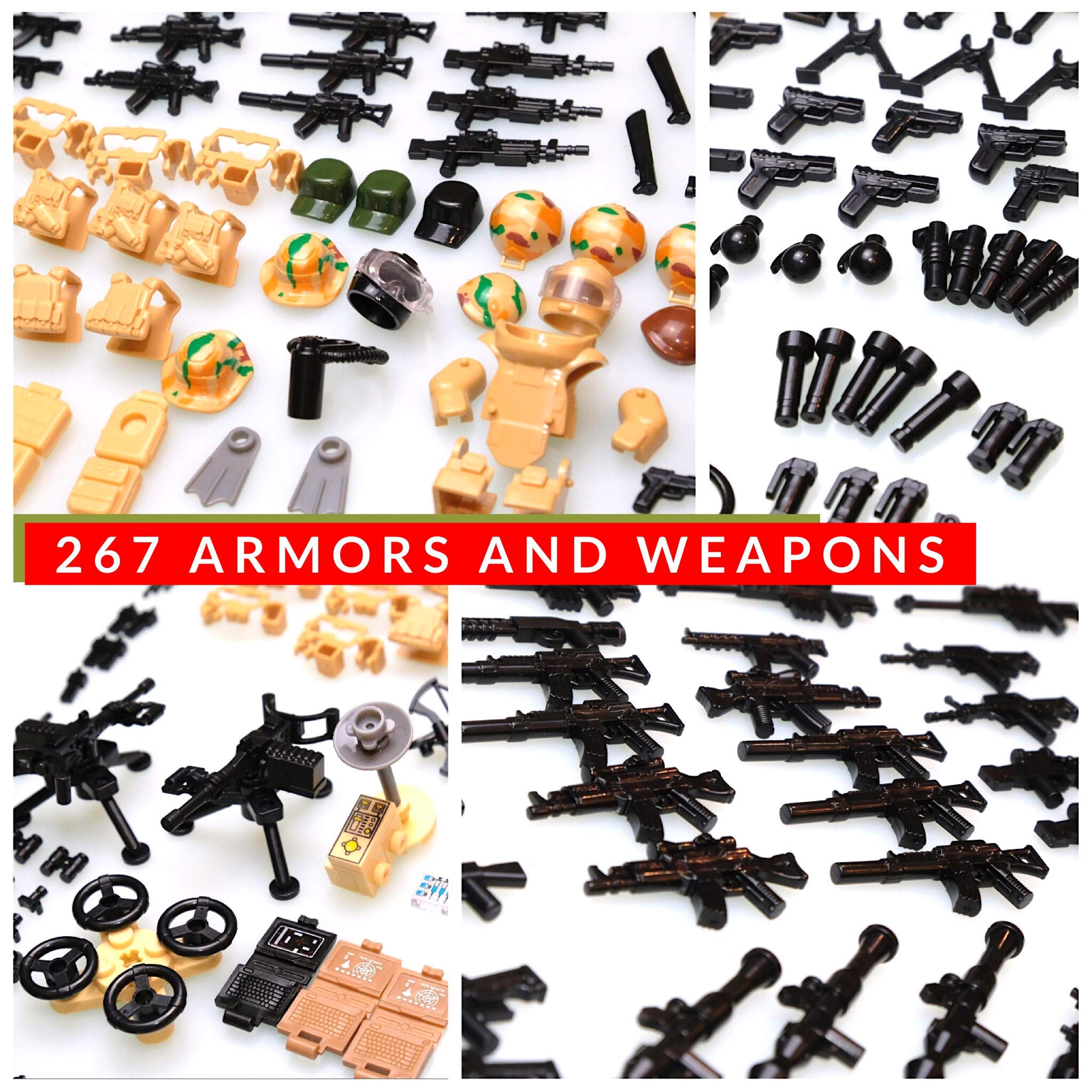 inFUNity Minifigures Military Accessories Compatible