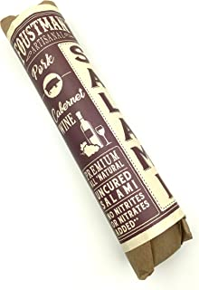 Foustman's Salami (Cabernet Wine) Artisanal, Nitrate-Free, Naturally Cured