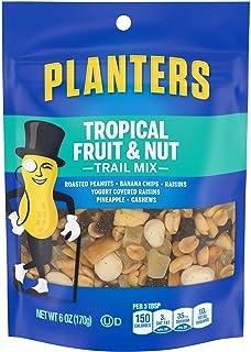 Planters Tropical Fruit & Nut Trail Mix (6 oz Pouches, Pack of 12)