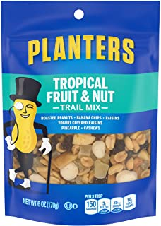 Planters Tropical Fruit & Nuts Trail Mix, 6 Ounce (Pack of 12)