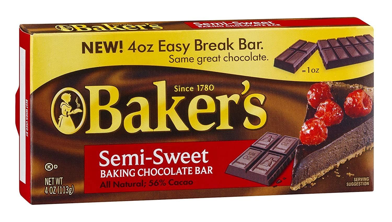 Baker's Semi-Sweet Chocolate Baking Popular product Bar of Max 63% OFF Pack 4 24 OZ