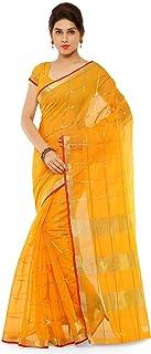 Kvsfab Women's Banarasi Raw Silk Saree With Blouse Piece (KVSSR1247-B_KLYN_2_Yellow)