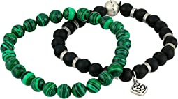 Beaded Bracelet Set with Ohm Charm