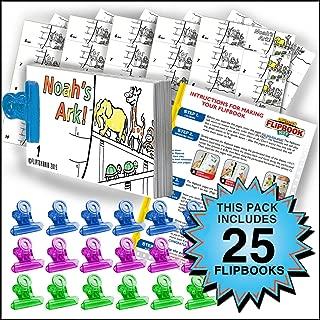 Fliptomania Noah's Ark Flipbook Animation Activity Pack - 25 Sets DIY Flip Books