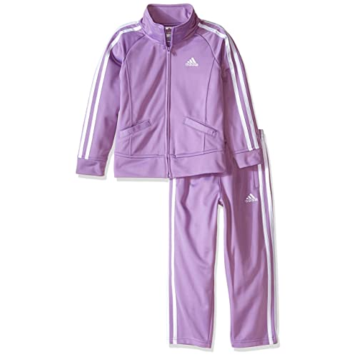 62cc9481504 Adidas Girls' Tricot Zip Jacket and Pant Set