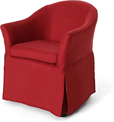Christopher Knight Home Gordon Traditional Accent Chair with Skirt, Red