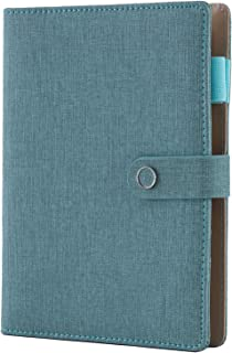 $28 » Spiral Leather Journal Writing Notebook, 6 Ring Binder Refillable Diary Notepads, Vintage Business Planner Personal Organizer, Agenda for Men Women, Faux Cloth Cover, A5 Size