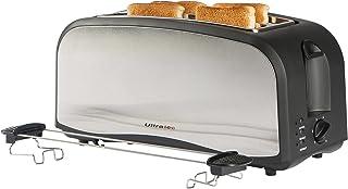 Ultratec Love Your Day Collection Tostadora de doble ranura en negro mate y acero inoxidable, opcionalmente para 4 tostada...