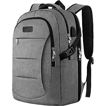 IIYBC Reise Laptop Rucksack,15,6 Zoll Diebstahlschutz Laptop Tasche mit USB-Ladeanschluss, Business Rucksack für Herren und Damen, College Schule Rucksack Tasche und Notebook-Grau