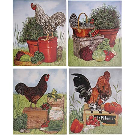 Amazon Com Rooster Chicken Barred Plymouth Rock Hen Kitchen Wall Decor Art Print Poster 16x20 Chicken Decor Posters Prints
