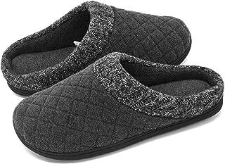 RockDove Mens Wool Fleece Slipper