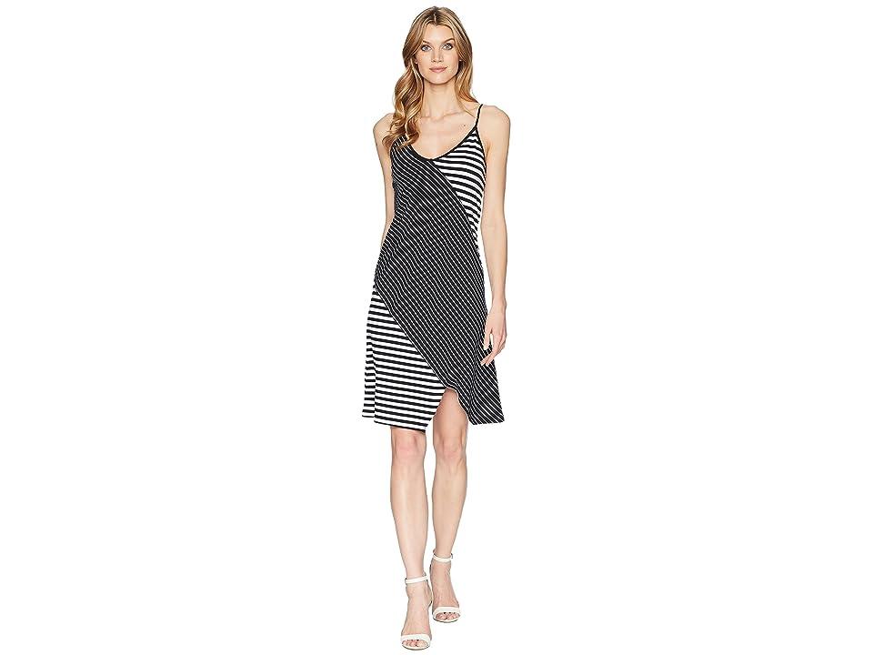 Kenneth Cole New York Pieced Cami Dress (Top Stripe/Black) Women