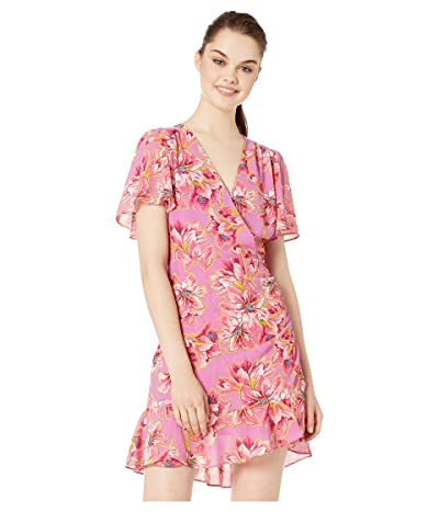 ASTR the Label Elizabeth Dress (Lavender/Pink Floral) Women