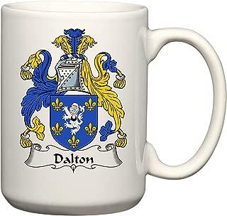 Dalton Coat of Arms/Dalton Family Crest 15 Oz Ceramic Coffee/Cocoa Mug by Carpe Diem Designs, Made in the U.S.A.