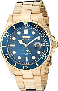 Invicta Men's Pro Diver 43mm Gold Tone Stainless Steel Quartz Watch, Gold (Model: 30024)