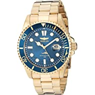 Men's Pro Diver Quartz Watch with Stainless Steel Strap, Gold, 22 (Model: 30024)