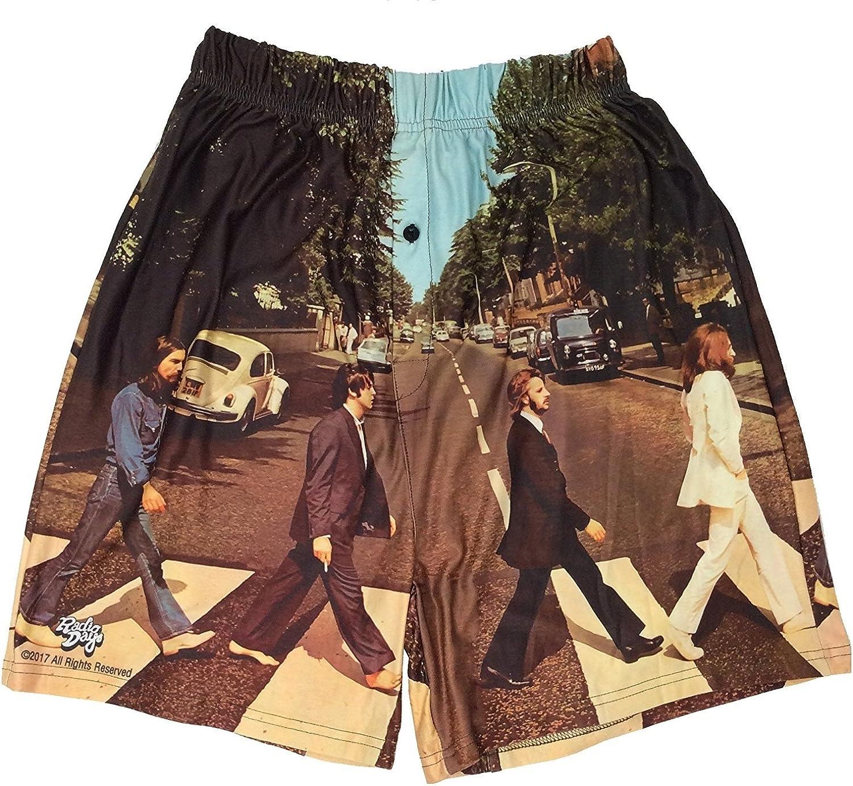 BRIEF INSANITY Men's Boxer Shorts Underwear The Beatles Abbey Road Print