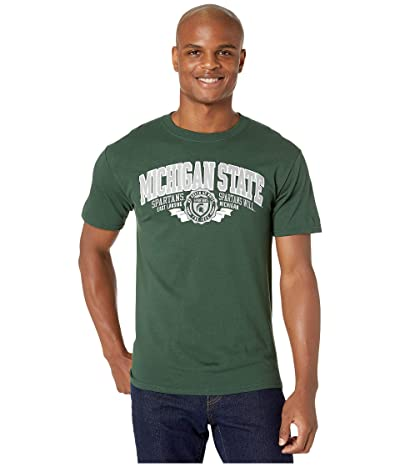 Champion College Michigan State Spartans Jersey Tee (Dark Green 3) Men