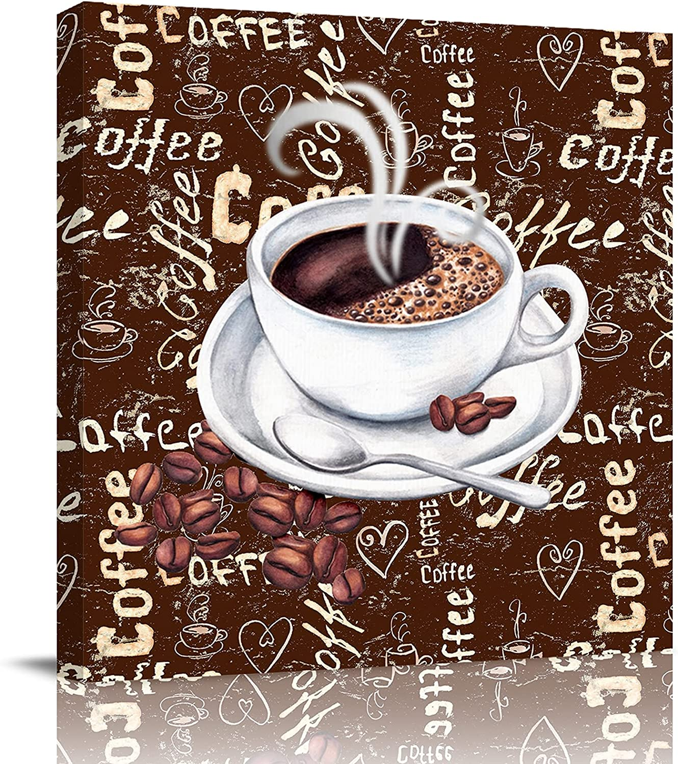 applebless Oil Painting on Limited time for free shipping Typography 5 ☆ very popular Coffee Canvas Words