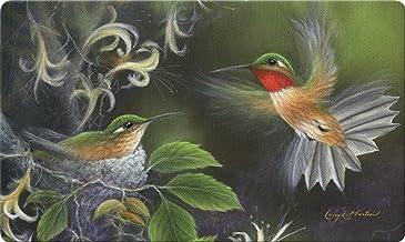 Toland Home Garden Rufous Hummingbird 18 x 30 Inch Decorative Floor Mat Flying Bird Tree Nest Doormat