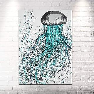 Quadro Dipinto A Mano Moderno Pop Art Materico Astratto 100% HANDMADE Su Tela Canvas 50x70 Montata Su Telaio Medusa