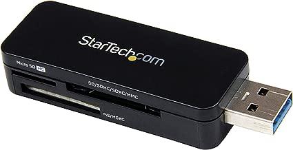 StarTech.com USB 3.0 External Flash Multi Media Memory Card Reader - USB 3 Card Reader - Portable External Mini Card Reader - SDHC MicroSD (FCREADMICRO3)