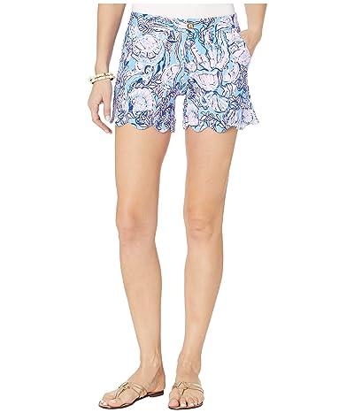 Lilly Pulitzer Buttercup Knit Shorts (Lapis Lazuli Horseshoe Bay) Women