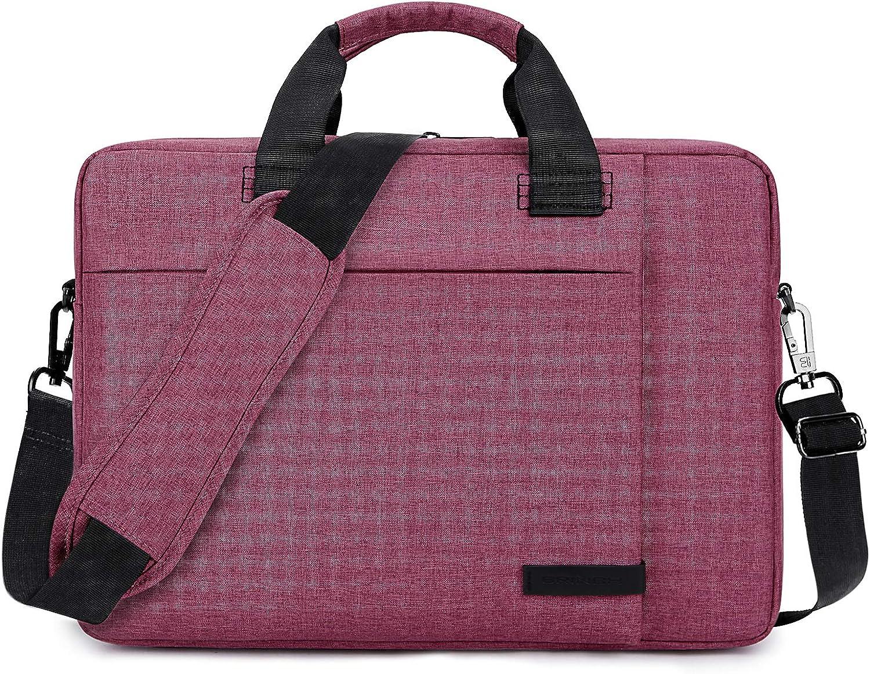 Laptop Bag 13.3 Inch Lightweight Business Briefcase Water Resistant Office College Messenger Bag Nylon Shoulder Bag with Adjustable & Detachable Strap Fits Notebook Computer for Men Women, Red