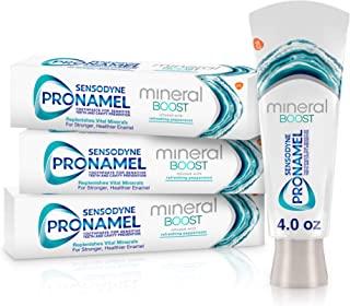 خمیر دندان Sensodyne Pronamel Mineral Boost Enamel برای دندان های حساس ، برای پر کردن مواد معدنی و تقویت مینا ، نعناع فلفلی - 4 اونس (بسته 3)