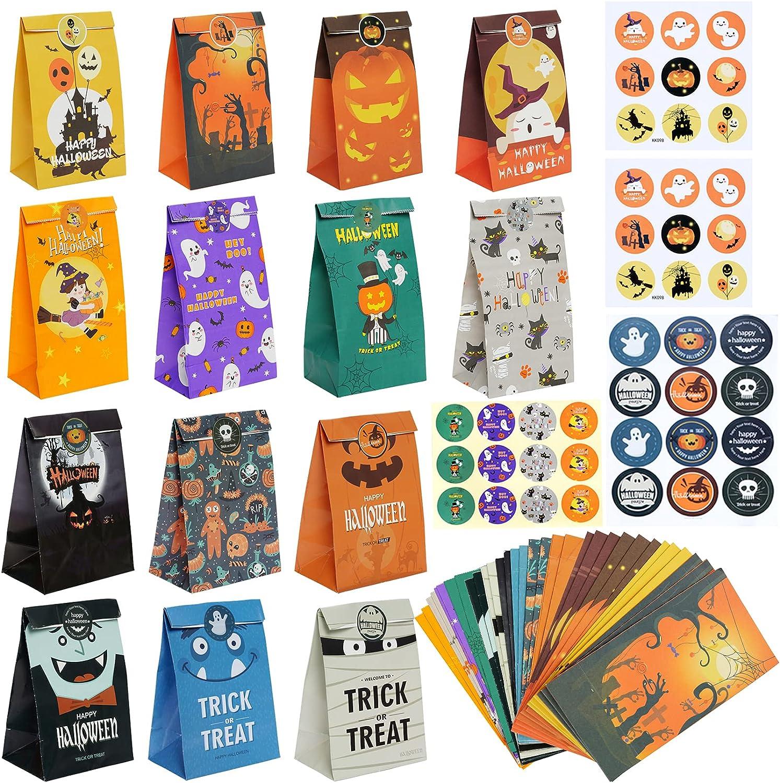 Max 52% OFF Sucrain 36 Pcs Max 73% OFF Halloween Treats Happy Party Hallowee Bags Favors