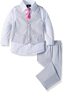 Steve Harvey Baby Boys Four Piece Vest Set