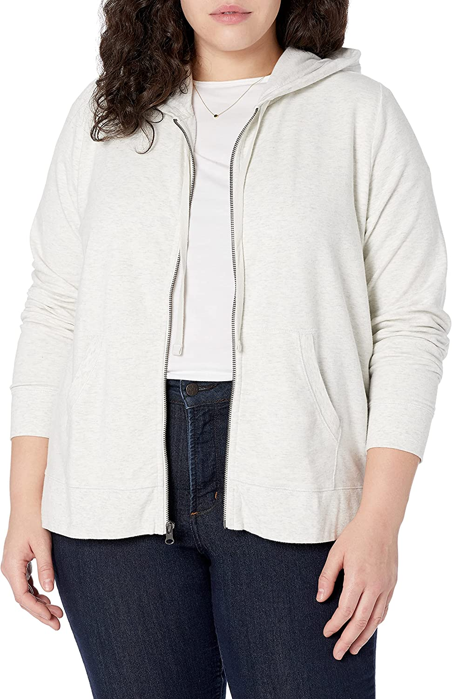 Amazon Brand - Goodthreads Women's Modal Hoodie Fleece Full-Zip Max shipfree 41% OFF