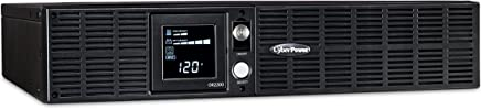 $399 » CyberPower OR2200LCDRT2U Smart App LCD UPS System, 2200VA/1320W, 8 Outlets, AVR, 2U Rack/Tower