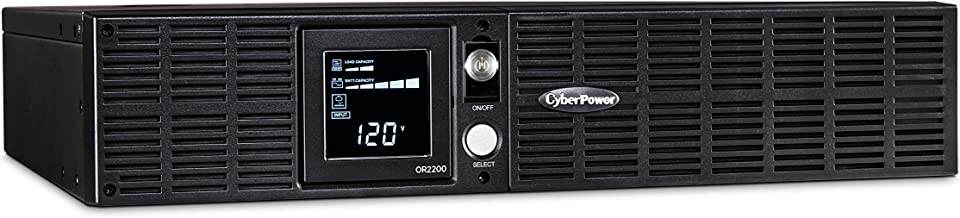 CyberPower OR2200LCDRT2U Smart App LCD UPS System, 2200VA/1320W, 8 Outlets, AVR, 2U Rack/Tower