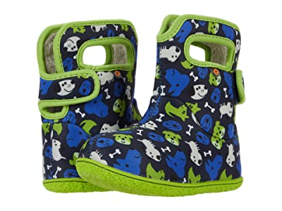 Bogs Kids Baby Bogs Puppies (Toddler) (Blue Multi) Kid