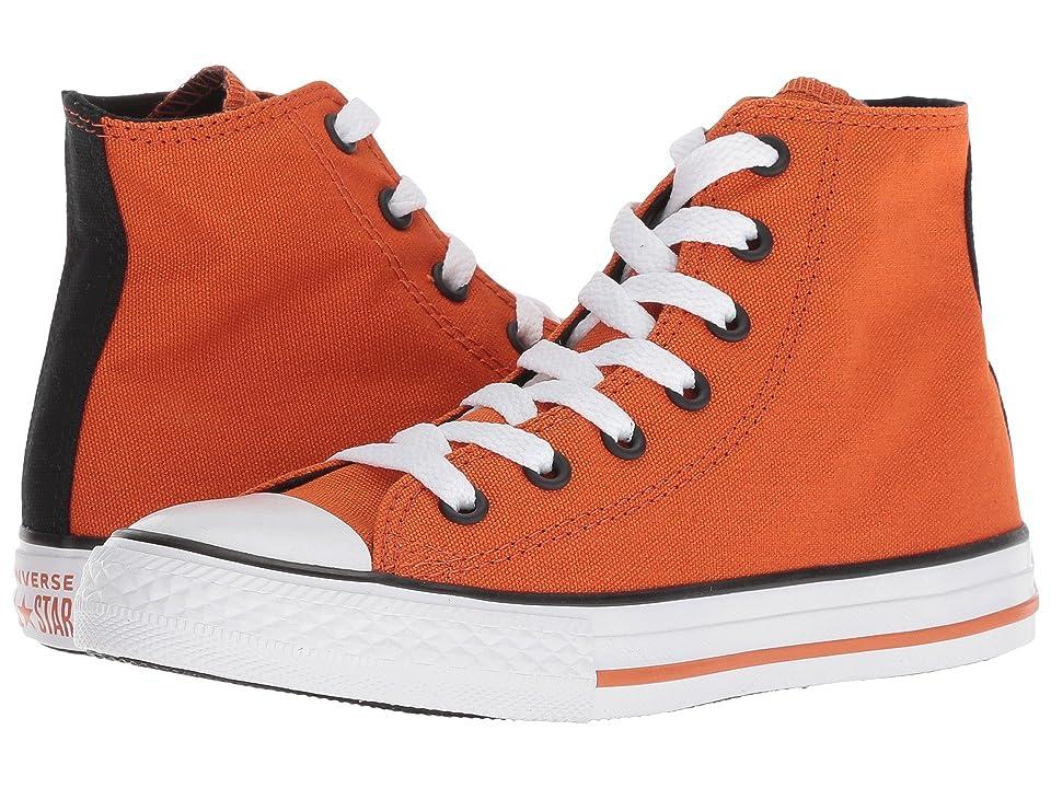 Converse Kids Chuck Taylor(r) All Star(r) Seasonal Hi (Little Kid/Big Kid) (Campfire Orange/Black/White) Boy